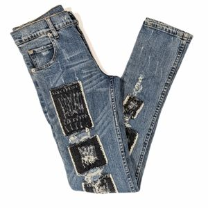 Cheap Monday distressed patch jeans sz 28x34